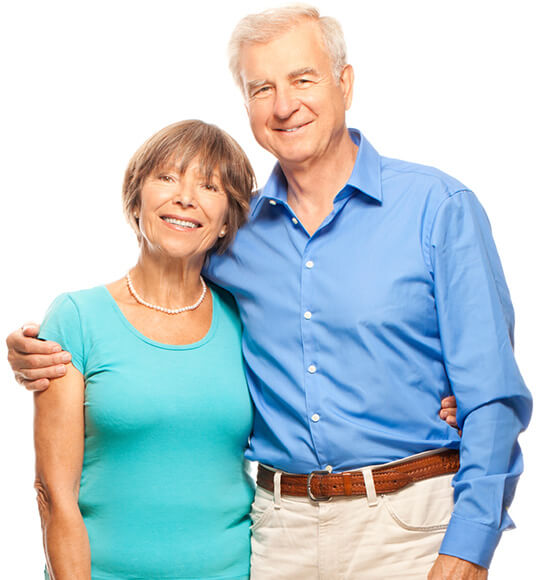 Older couple smiling together